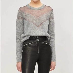 Tag bone grey crew neck knit sweater
